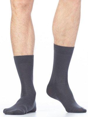 Классические гладкие всесезонные мужские носки из хлопка c комфортной резинкой.