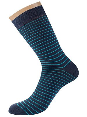 Классические гладкие эластичные всесезонные мужские носки в полоску
