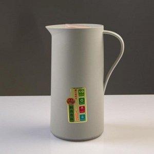 Термос-кофейник 1 л, стеклянная колба, сохраняет тепло 24 ч, микс