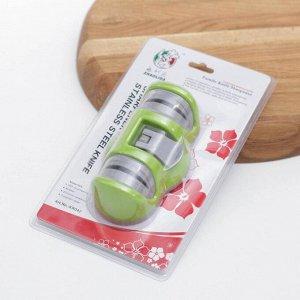 Точилка для металлических ножей с полировкой, на присоске «Профи», цвет МИКС