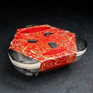 Набор салатников «Флора», 200 мл, d=11 см, 3 шт, с гравировкой, в подарочной упаковке