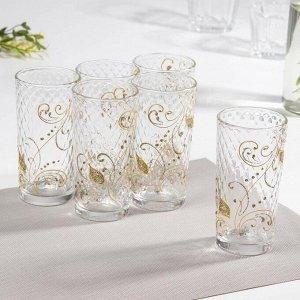 Набор стаканов «Перо Жарптицы», 230 мл, 6 шт, в подарочной упаковке