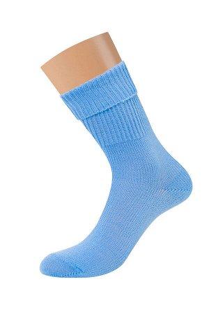Теплые женские однотонные осенне-зимние носки из шерсти и акрила
