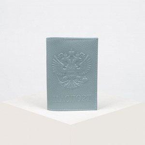 Обложка для паспорта, флотер, цвет серый