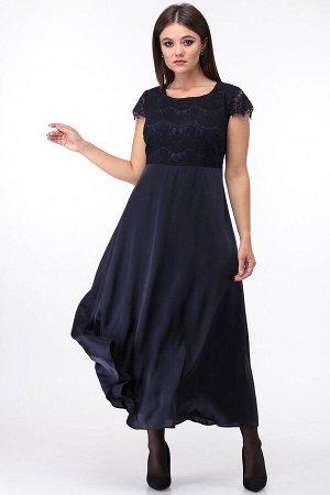 АНАСТАСИЯ Мак 754.С2 Платье-двойкатемно-синий