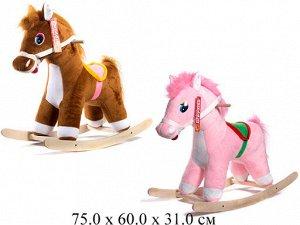 Лошадь-качалка (розовый) ЭКО  См-750-4Лш 84538