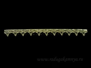 Багет травка из бронзы литье  120*13мм