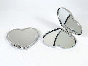 Зеркало сердце , 70*63*8мм