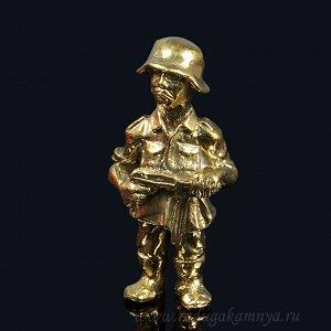 "Фигурка ""Фриц"", 75*35*20мм,  литой из бронзы."