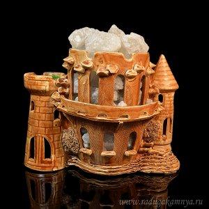 """Солевая лампа """"Замок малый"""" 235*130*200мм, свечение белое"""