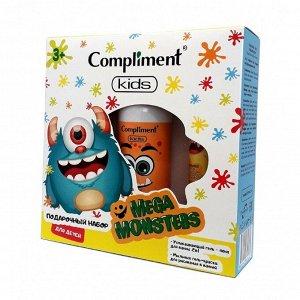 Набор №1801 Compliment MEGAMONSTERS (гель-пена д/ванны /200 + краска д/ванн голубая /50 + краска д/ванн желтая /50)