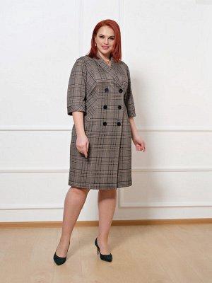 Платье 0149-1 коричневый