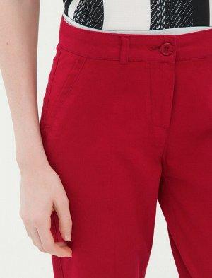 Штаны-сигареты - бордовый красный
