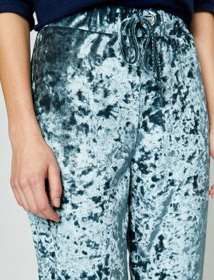 Бархатные брюки - серебристый цвет
