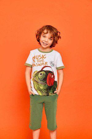 Фуфайка Фуфайка (футболка) д/мал Juno SS21BJ626 Chameleon белый 100% хлопок