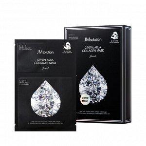 JM Solution Crystal Aqua Collagen Mask Jewel Маска для лица с коллагеном и ювелирным комплексом 27мл+1,5мл