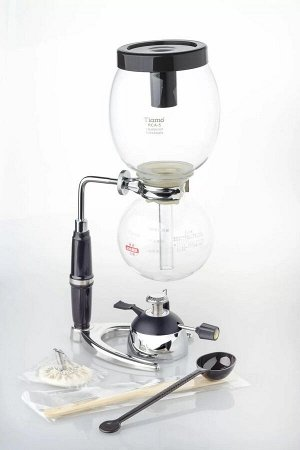 """Товары для заваривания кофе и чая. Сифон кофейный с горелкой RCA-3 на 3 чашки, """"TIAMO"""", HG2351"""