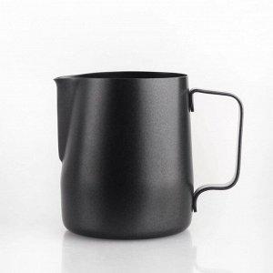 """Молочники. Молочник черный тефлоновый, 1000 мл., """"TIAMO"""", HC7070"""