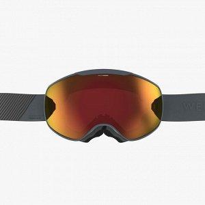 Маска для лыж и сноуборда для любой погоды для детей и взрослых серая g 900 ph wedze