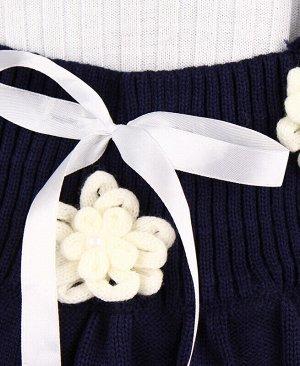 Вязанный комплект для девочек Цвет: синий