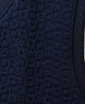Синий школьный жилет для девочки Цвет: синий