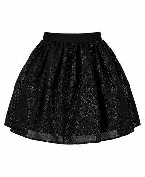 Черная нарядная юбка для девочки Цвет: черный