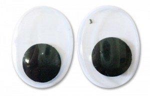 Глазки бегающие овальные со зрачками 15*20мм 1 пара