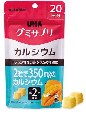 Витамины UHA жевательный комплекс витаминов Кальций со вкусом манго на 30 дней