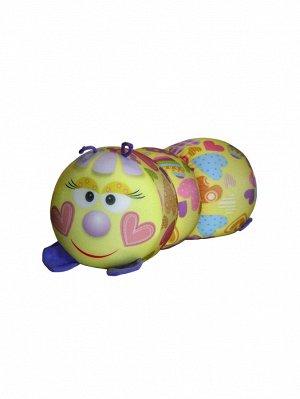"Антистрессовая игрушка-валик ""Гусеница"" мал. (Сердечко)"