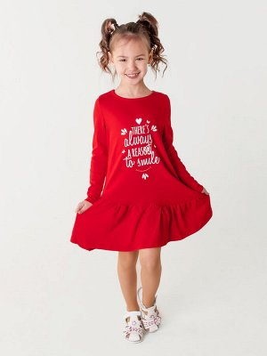 Платье Алиса д/р красный