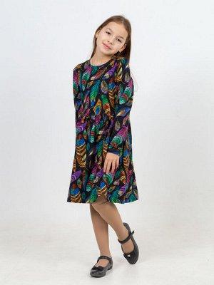 Платье Эля MAX перья черный
