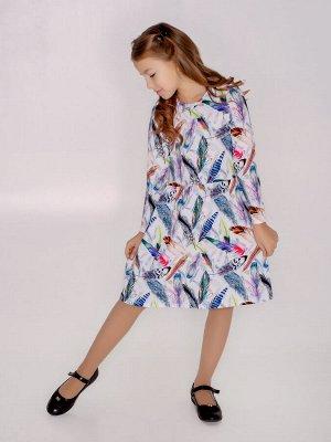 Платье Эля MAX перья