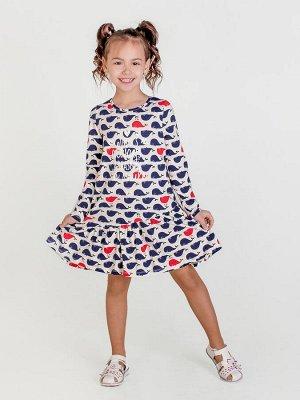Платье Алиса д/р киты
