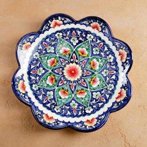 Ляган рифленый Риштанская керамика 32см