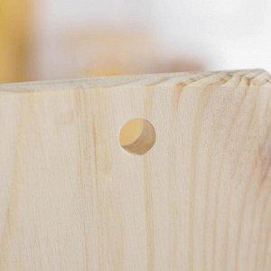 Доска разделочная Доляна «Декор», 40?20?1,8 см, сосна