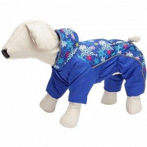 Комбинезон для собак на синтепоне 37 (кобель) синий