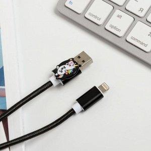 Набор: держатель для провода и кабель USB iPhone «Единорог вжух и порядочек», 1 м