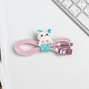 Набор: держатель для провода и кабель USB Android «Чудеса», 1 м