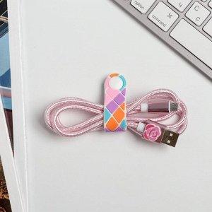 Набор: держатель для провода и кабель USB Android «Самой особенной», 1 м