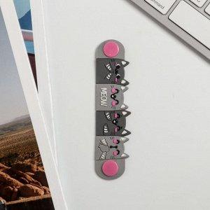 Набор держатель для провода и кабель USB Android «Кот», 1 м
