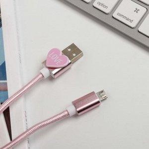 Набор держатель для провода и кабель USB Android «Идеальная пара», 12 х 19 см