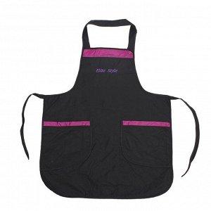 Фартук для мастера, цвет чёрно-фиолетовый