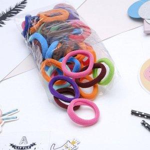 """Резинка для волос """"Махрушка"""" 5,5 см (набор 48 шт) разноцветные"""