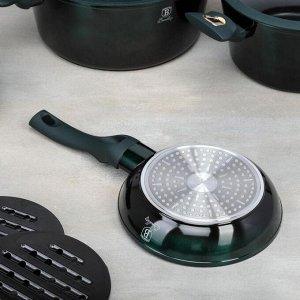 Набор посуды 10 пр Emerald Collection 3 кастр, 3 стекл. кр, 2 сков, 2 подст