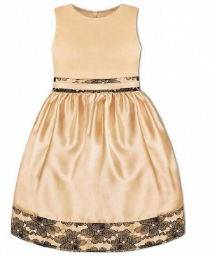 Бежевое нарядное платье для девочки Цвет: бежевый