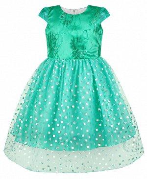 Бирюзовое нарядное платье для девочки Цвет: бирюзовый