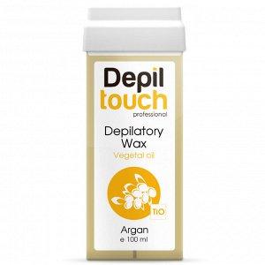 Тёплый воск с растительными маслами «Аргана» Depiltouch 100 мл