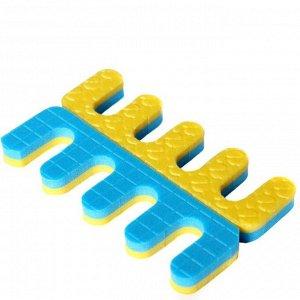 Разделители для пальцев 25 шт/уп White Line  жёлто-голубые