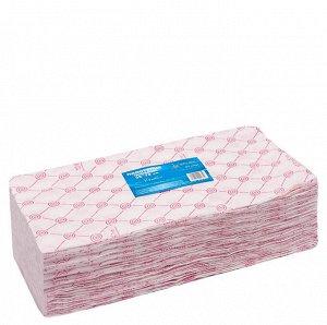 Полотенце 35x70 розовое в пачке White Line 50 шт/уп
