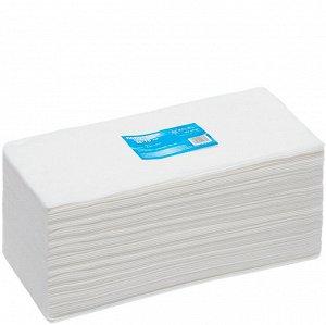 Полотенце одноразовое 35x70 белое ВЫБОР ВАКУУМПАК White Line 300 шт/уп